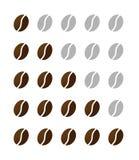 Ταξινόμηση των φασολιών coffe από το ένα έως το διάνυσμα πέντε ελεύθερη απεικόνιση δικαιώματος