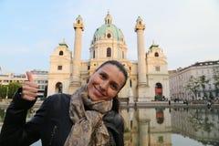 Ταξιδιωτική γυναίκα της Βιέννης Στοκ εικόνες με δικαίωμα ελεύθερης χρήσης