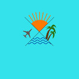 Ταξιδιωτικό γραφείο λογότυπων Στοκ Φωτογραφίες