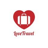Ταξιδιωτικό εικονίδιο αγάπης Στοκ εικόνες με δικαίωμα ελεύθερης χρήσης