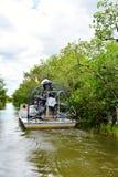 Ταξιδιώτες άγριας φύσης εξερεύνησης πάρκων gator της Φλώριδας ΗΠΑ στοκ εικόνα με δικαίωμα ελεύθερης χρήσης