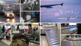 Ταξιδιώτης και οι αποσκευές του απόθεμα βίντεο
