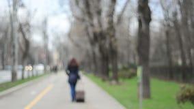 Ταξιδιώτης με τη βαλίτσα Στοκ φωτογραφία με δικαίωμα ελεύθερης χρήσης