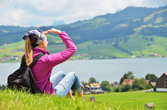 Ταξιδιώτης με backpack Στοκ εικόνα με δικαίωμα ελεύθερης χρήσης
