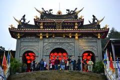 Ταοϊστικός ναός Zhinan στο Hill Ταϊπέι, Ταϊβάν Maokong στοκ φωτογραφίες με δικαίωμα ελεύθερης χρήσης