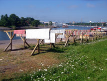 ταπήτων ήλιος αποβαθρών του Ελσίνκι πόλεων doormats ξηρός Στοκ φωτογραφίες με δικαίωμα ελεύθερης χρήσης