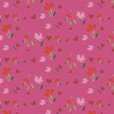 Ταπετσαρία άνοιξη με τα λουλούδια Υπόβαθρο Στοκ Εικόνες