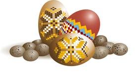 ταπετσαρία αυγών Πάσχας σ&c Στοκ Εικόνα