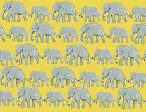 ταπετσαρία ελεφάντων Στοκ Εικόνες