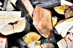 Ταπετσαρία καυσόξυλου - σύσταση Στοκ φωτογραφία με δικαίωμα ελεύθερης χρήσης