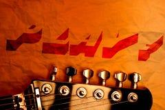 Ταπετσαρία κιθάρων Στοκ Εικόνα