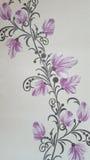 Ταπετσαρία με τα λουλούδια Στοκ Εικόνες