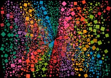 Ταπετσαρία με το γεωμετρικό σχέδιο στοιχείων με τα χρώματα και το τυχαίο σχεδιάγραμμα Στοκ Φωτογραφία
