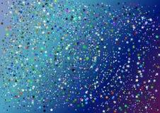 Ταπετσαρία με το γεωμετρικό σχέδιο στοιχείων με τα χρώματα και το τυχαίο σχεδιάγραμμα Στοκ Εικόνες