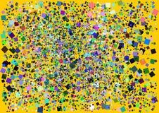 Ταπετσαρία με το γεωμετρικό σχέδιο στοιχείων με τα χρώματα και το τυχαίο σχεδιάγραμμα Στοκ φωτογραφία με δικαίωμα ελεύθερης χρήσης