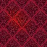 Ταπετσαρία με το κόκκινο σχέδιο Στοκ Εικόνα