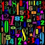 Ταπετσαρία με το Μαύρο αριθμών Στοκ Εικόνες