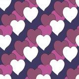 Ταπετσαρία υποβάθρου με τη διανυσματική απεικόνιση καρδιών Στοκ εικόνα με δικαίωμα ελεύθερης χρήσης