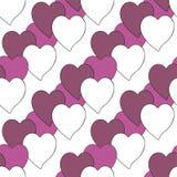 Ταπετσαρία υποβάθρου με τις καρδιές Διανυσματική διανυσματική απεικόνιση Στοκ φωτογραφία με δικαίωμα ελεύθερης χρήσης