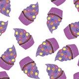 Ταπετσαρία υποβάθρου με muffins διάνυσμα Στοκ φωτογραφίες με δικαίωμα ελεύθερης χρήσης