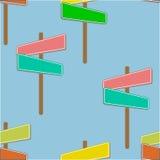 Ταπετσαρίες με τα σημάδια οδών Στοκ εικόνα με δικαίωμα ελεύθερης χρήσης