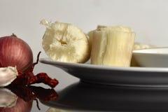 ταπιόκα ατμού με βυθισμένο sambal Στη Μαλαισία αυτά τα τρόφιμα αποκαλούμενα στοκ φωτογραφία με δικαίωμα ελεύθερης χρήσης