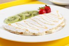 Ταπιόκα με τα φρούτα και το μέλι στοκ εικόνα με δικαίωμα ελεύθερης χρήσης