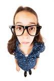 Ταραγμένο κορίτσι nerd στοκ φωτογραφίες με δικαίωμα ελεύθερης χρήσης