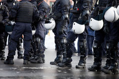 ταραχή αστυνομίας Στοκ εικόνες με δικαίωμα ελεύθερης χρήσης