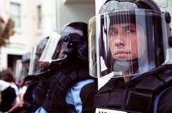 ταραχή αστυνομίας Στοκ Φωτογραφίες