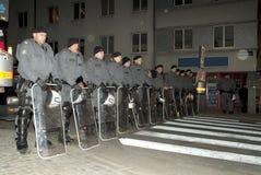 ταραχή αστυνομίας Στοκ Φωτογραφία