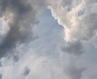 Ταραχώδης μίξη στα σύννεφα Στοκ φωτογραφία με δικαίωμα ελεύθερης χρήσης