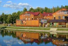 Ταταρία, Zelenodolsk Καφές από τη λίμνη Στοκ Εικόνες
