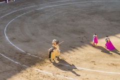 Ταυρομαχία Bullfigt στη Μαδρίτη Στοκ Εικόνες