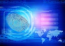 Ταυτότητα δακτυλικών αποτυπωμάτων διανυσματική απεικόνιση