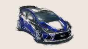 2011 ταυτότητα 6094 αυτοκινήτων παγκόσμιας συνάθροισης γιορτής RS της Ford διανυσματική απεικόνιση