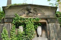 Ταφόπετρα αγγέλου νεκρόπολη της Γλασκώβης στη Σκωτία στοκ εικόνα