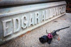 Ταφόπετρα σημείου εισόδου του Edgar Allan Στοκ Φωτογραφίες