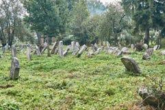 Ταφόπετρες στο εβραϊκό νεκροταφείο Στοκ Εικόνες