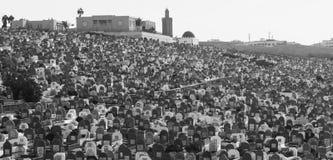 Ταφόπετρες στο νεκροταφείο στη Rabat, Μαρόκο Στοκ φωτογραφία με δικαίωμα ελεύθερης χρήσης