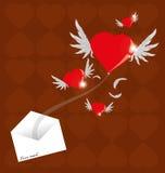 Ταχυδρομείο αγάπης Στοκ φωτογραφίες με δικαίωμα ελεύθερης χρήσης