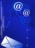 ταχυδρομείο ανασκόπηση&sigm απεικόνιση αποθεμάτων