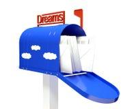 ταχυδρομείο επιστολών ονείρου κιβωτίων ελεύθερη απεικόνιση δικαιώματος