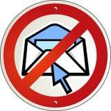ταχυδρομείο ε κανένα spam ελεύθερη απεικόνιση δικαιώματος