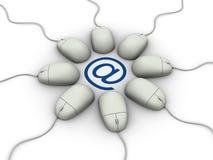 ταχυδρομείο ε mouses ελεύθερη απεικόνιση δικαιώματος