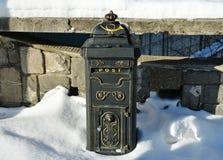 Ταχυδρομείο κιβωτίων στις οδούς Sinaia Στοκ Φωτογραφία