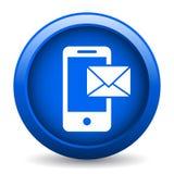 Ταχυδρομείο στο κινητό εικονίδιο απεικόνιση αποθεμάτων
