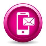 Ταχυδρομείο στο κινητό εικονίδιο διανυσματική απεικόνιση