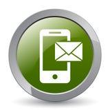 Ταχυδρομείο στο κινητό εικονίδιο ελεύθερη απεικόνιση δικαιώματος