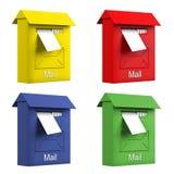 ταχυδρομείο χρώματος κιβωτίων διανυσματική απεικόνιση